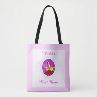 Pink Yellow Cattleya Orchid Mother's Day Tote Bag