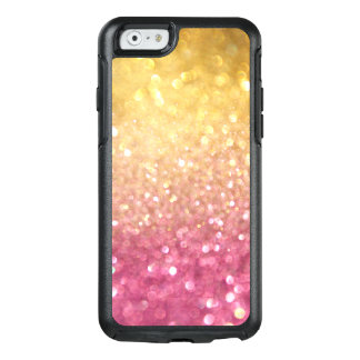 Pink Yellow Gold Glitter Otterbox iPhone 6/6s Case