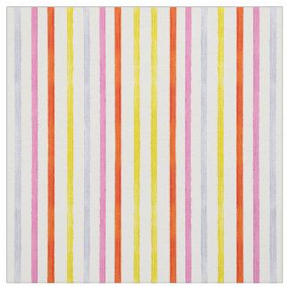 Pink yellow orange stripes fabric