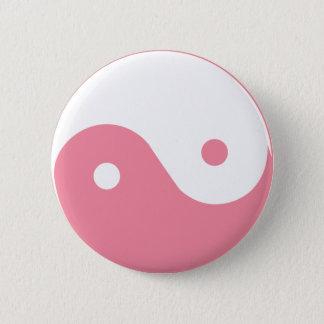 Pink Yin-Yang Symbol 6 Cm Round Badge