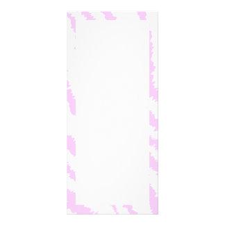 Pink Zebra Print, Animal Pattern. Personalized Rack Card