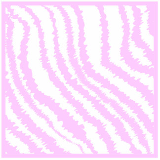Pink Zebra Print, Animal Pattern. Photo Sculpture Key Ring