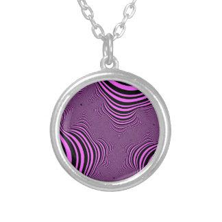 Pink Zebra Stripes Necklace