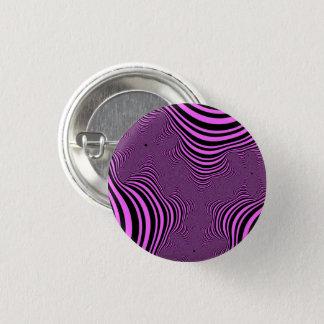 Pink Zebra Stripes Small Button