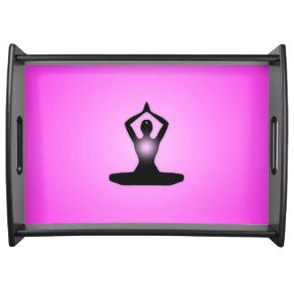 Pink Zen Meditation Sunburst Serving Tray