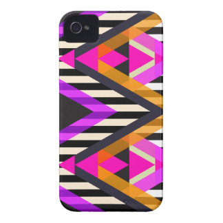 Pink Zigzag Pop Aztec iPhone 4 Case