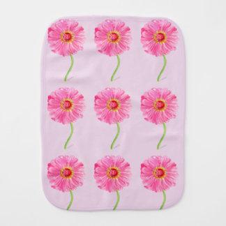 Pink zinnia baby blanket