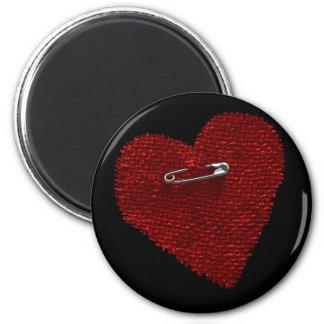 Pinned On Heart Magnet