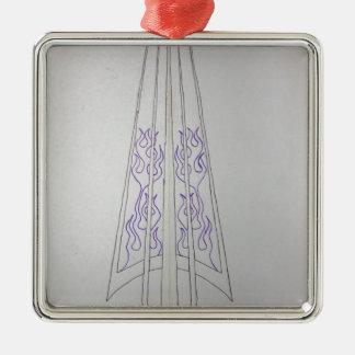 pinstripe 1 Silver-Colored square decoration