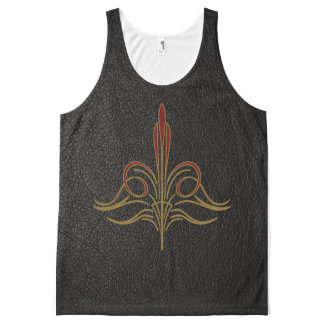 Pinstripe All-Over Print Tank Top