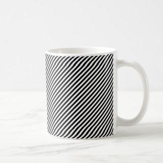 Pinstripe Basic White Mug