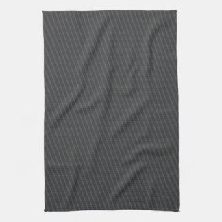 Charmant Pinstripe Grey Tea Towel