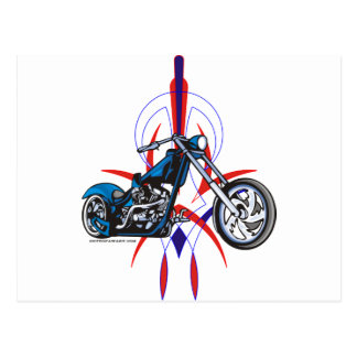 Pinstripe Motorcycle Post Cards