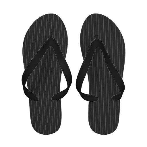 Pinstripe Pattern Flip-Flops