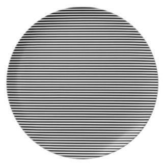 Pinstripe pattern dinner plates