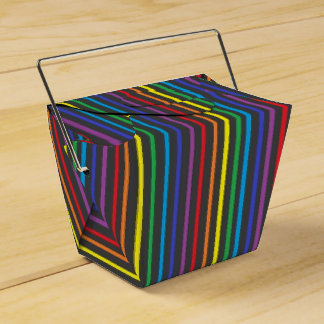 Pinstripe Rainbow Favor Box