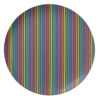 Pinstripe Rainbow Plate