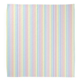 Pinstripe Rainbow White Bandanas