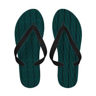 Pinstriped Flip Flops