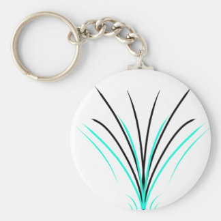 Pinstripes Basic Round Button Key Ring