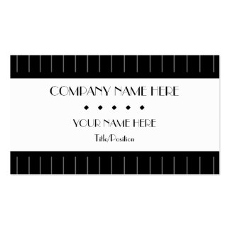 Pinstripes Business Cards