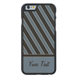 Pinstripes diagonal stripes customize text carved® maple iPhone 6 slim case