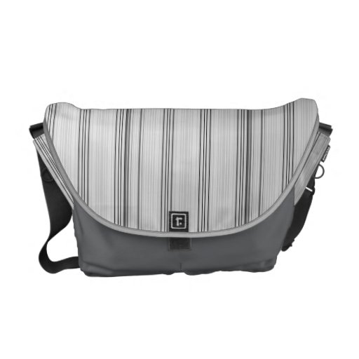 Pinstripes Courier Bag