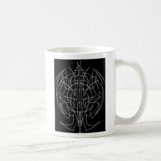 Pinstriping Bird Man Basic White Mug