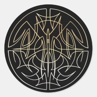 Pinstriping circle design round sticker