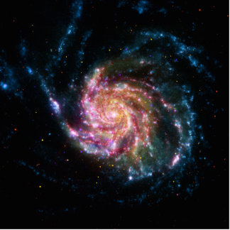 Pinwheel Galaxy Spiral Space Standing Photo Sculpture