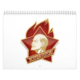 Pioneers Organization Vladimir Lenin Socialist Wall Calendars