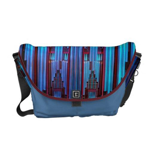 Pipe organ messenger bag - Blue