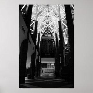 Pipe Organ Music Hall Print