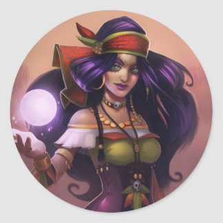 Pirate101 Madame Vadima Classic Round Sticker