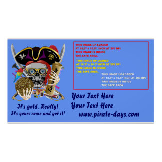 "Pirate 60"" X 35"" Resize 35 Back Colors View About Poster"