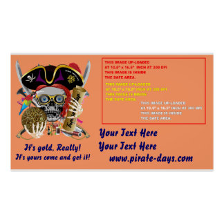 """Pirate 60"""" X 35"""" Resize 35 Back Colors View About Print"""