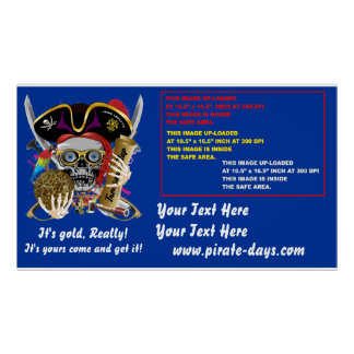 """Pirate 60"""" X 35"""" Resize 35 Back Colors View About Poster"""