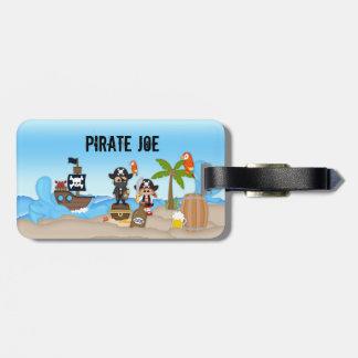 Pirate Adventure Sword Beer Rum Adult Travel Tag