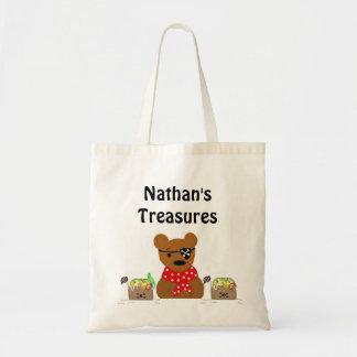 Pirate Bear Treasures Canvas Bags