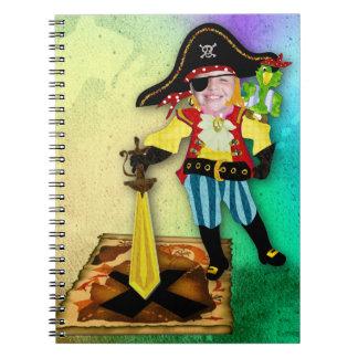 Pirate boy photo notebook