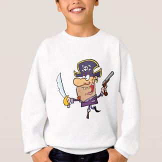 Pirate Brandshing Sword and Gun Sweatshirt