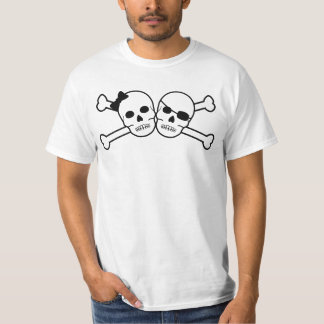 pirate bride and groom t-shirt