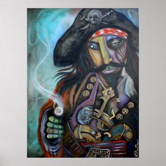 Pirate Captain Barbosa Poster