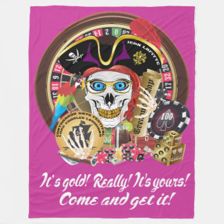 Pirate Casino Hang Me! IMPORTANT Read About Design Fleece Blanket