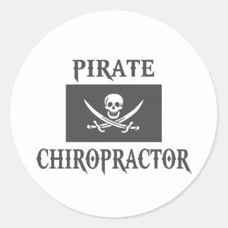 Pirate Chiropractor Sticker