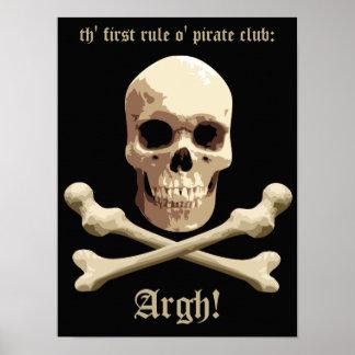 Pirate Club - Skull and Crossbones Print