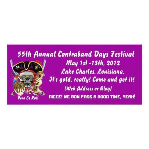 Pirate Contraband Days Louisiana 30 Colors Custom Rack Card