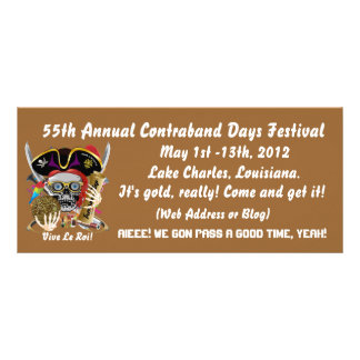 Pirate Contraband Days Louisiana 30 Colors Rack Card Template