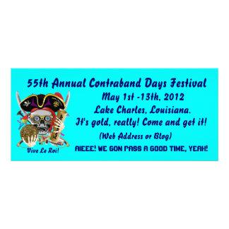 Pirate Contraband Days Louisiana 30 Colors Rack Cards