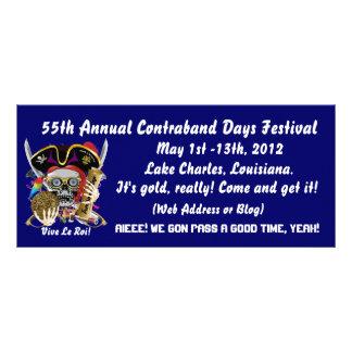 Pirate Contraband Days Louisiana 30 Colors Rack Card